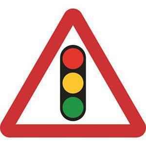 Traffic Lights Road Sign