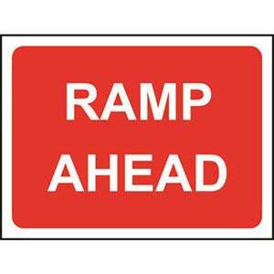 Ramp Ahead Road Sign