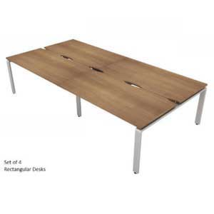 Aura Bench Rectangular Desks - Set of 4