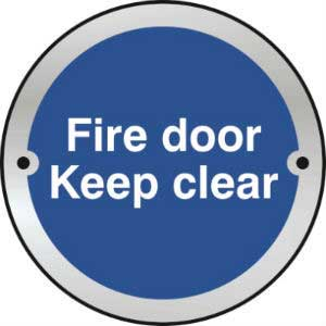 Fire Door<br /> Keep Clear Door Disc