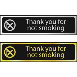 Thank You<br /> For Not Smoking Mini Sign