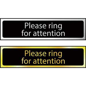 Please<br /> Ring For Attention Mini Sign
