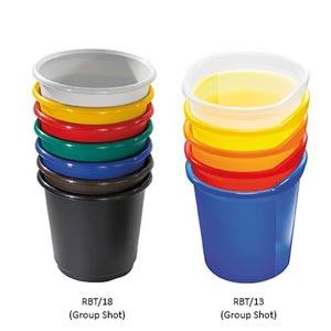 Plastic<br /> Wastebaskets Pack of 4