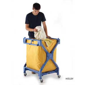 Strong<br /><br /><br /> Plastic Folding Laundry Trolley