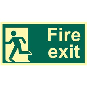 Final Fire Exit Left Photoluminescent Sign