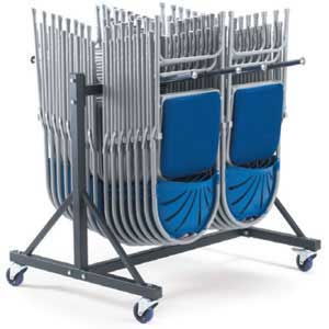 2 row Low Hanging Chair Storage Trolley