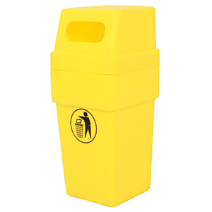 114 Litre Plastic Hooded Bin  in 5 Colours