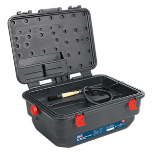 16L Mobile Parts Cleaning Tank with Built-in Brush