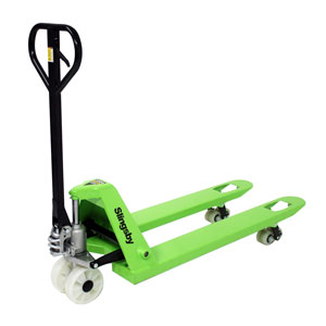 Heavy duty 2500 kg pallet truck suitable for Euro, CHEP and UK sized pallets