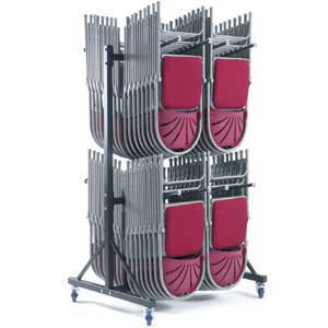 2 row High Hanging Chair Storage Trolley