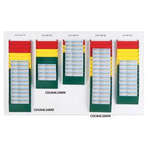 Cascading Document Display System - Mixed Colours