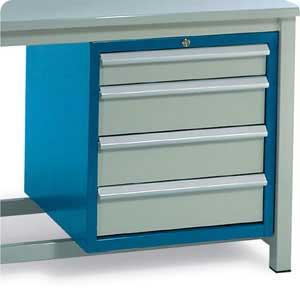 4 Drawer Cabinet (2 small, 1 medium and 1 large) for BS H/D Workbench