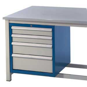 H/D Workbench 4 drawers + Lockable Cabinet