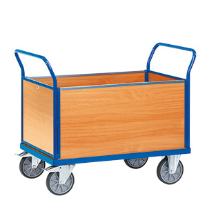 High Sided Box Cart Trolley
