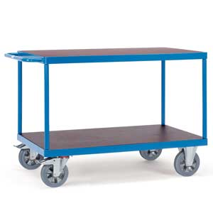 H/D 2 Shelf Table Top Cart 1200kg Capacity