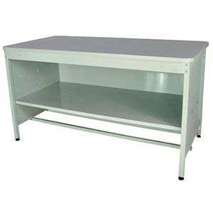 760mm High Enclosed Mailroom Workbench with MFC Worktop & Middle Shelf