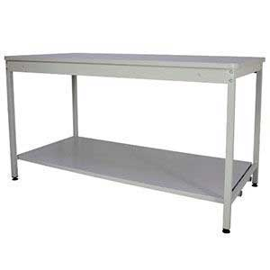 760mm High Open Mailroom Workbench with MFC Worktop & Lower Shelf