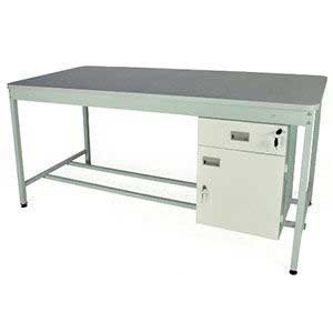 920mm High Open Mailroom Workbench with MFC Worktop