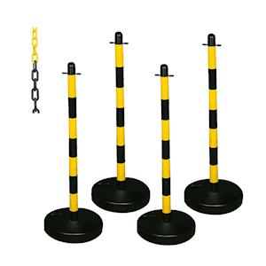 Plastic Post and Chain Barrier Kits