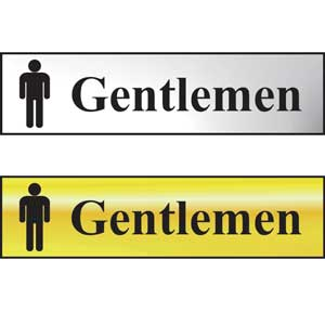 Gentlemen Mini Sign