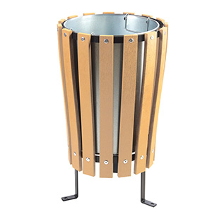 Imatation Wood Slat Litter Bins