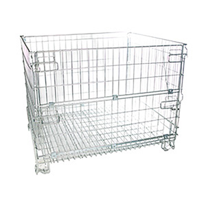 Strong mesh collapsible cage pallet