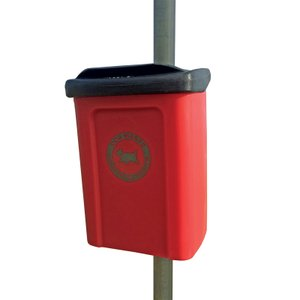 25L Post or Wall Mounted Dog Waste Bin