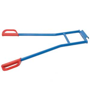 Appliance truck carrying handles for two-man use