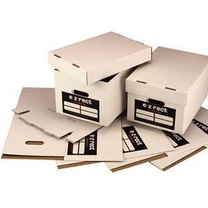 Document storage boxes (Supplied in packs of 25)