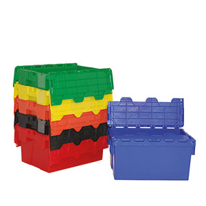 Attached Lid Containers in 6 Different Colours