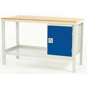 Bott Basic Fully Welded Steel Workbenches With Cupboard