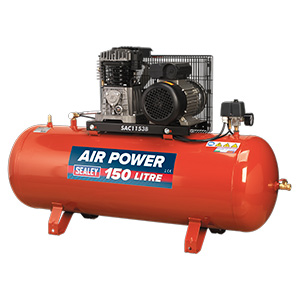 150 litre Belt Drive Compressor with Cast Cylinders with FREE UK Delivery