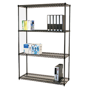 Black Anodised Wire Shelving with FREE UK Delivery