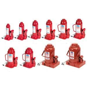 Bottle Jacks 2tonne to 50tonne capacity