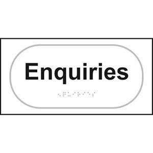Braille Enquires Sign