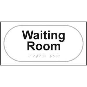 Braille Waiting Room Sign