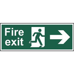 BS Fire Exit Arrow Right Sign