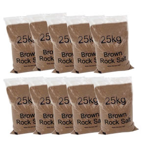 Bulk Brown Rock Salt, Bags of 25kg