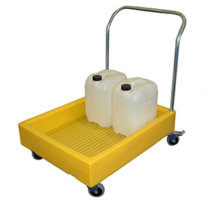 Chemical trolley, Container trolley, Bunded Trolley