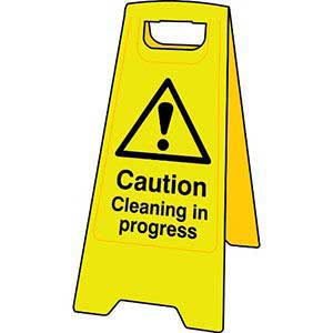 Caution Cleaning in Progress Floor Sign Stand