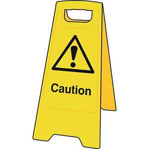 Caution Floor Sign Stand