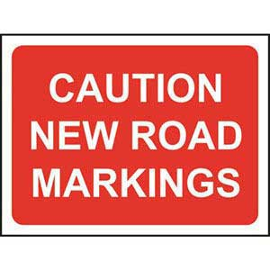 Caution New Road Markings Road Sign