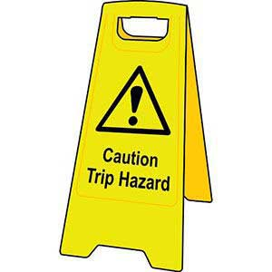Caution Trip Hazard Floor Stand Sign
