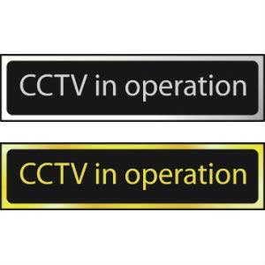 CCTV In Operation Mini Sign