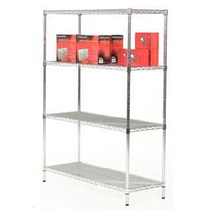 Chrome Shelving Bays - 1800mm High