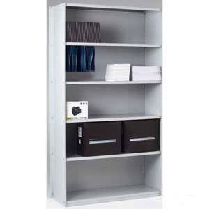 Closed Back Solo Shelving Extension Bay with 6 Shelves