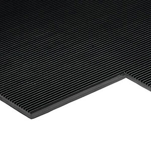 Ribbed Rubber Electrical Safety Matting 3mm Thick - Price Per Meter