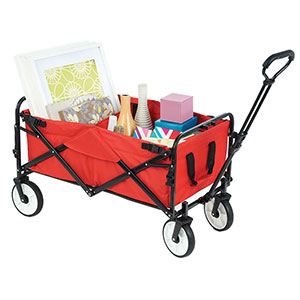 Metal framed collapsible trolley