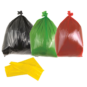 Heavy duty bin bags, light duty sacks