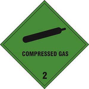 Compressed Gas 2 Diamond Labels